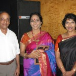 Mr Ramakrishnan and Vandana Sarathy with Bombay Jayashri