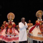 Vice Chancellor KG Paulose with Kathakali Dancers