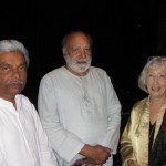 Vice Chancellor KG Paulose, Mohindar Dhillon of Natraj Arts, and Writer Mary Lightfoot [Niece of Louise Lightfoot]