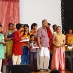 Student awarded by OS Thyagarajan and Nithyashree Mahadevan